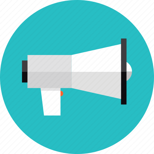 announcement, loudspeaker, marketing, megaphone, promotion, speaker, speech icon