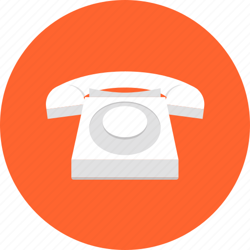 call, communication, office, phone, retro, telephone, wired icon