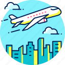 airplane, tourism, transport, travel, travelling, vacation icon