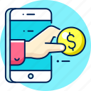 money, payment, transfer, finance, business, cash icon