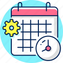 calander, date, event, schedule, time, time management icon
