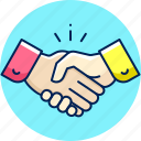 agreement, deal, handshake, meeting, partnership icon