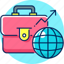 bag, business, finance, global, growth, office icon