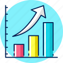 report, graph, growth, analysis, statistics icon