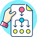 plan, workflow, planning, strategy, business, schedule icon