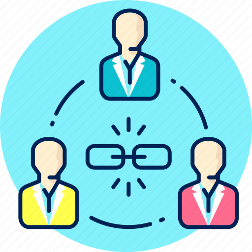 business, network, people, social, team, teamwork icon