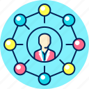 communication, connect, connection, network, social, team icon