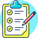 check, checklist, clipboard, list, menu, to do icon