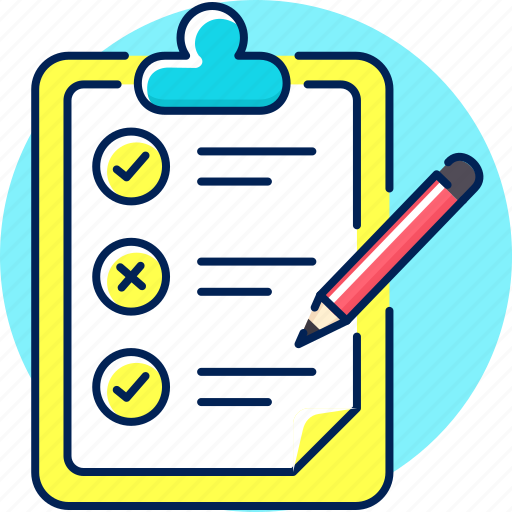 check, checklist, clipboard, list, menu, to do icon