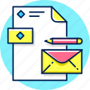 brand, branding, card, envelope, letter icon