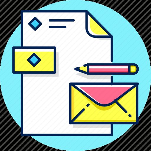 brand, branding, card, envelope, letter icon