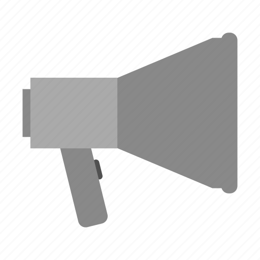 background, illustration, isolated, megaphone, sign, silhouette icon