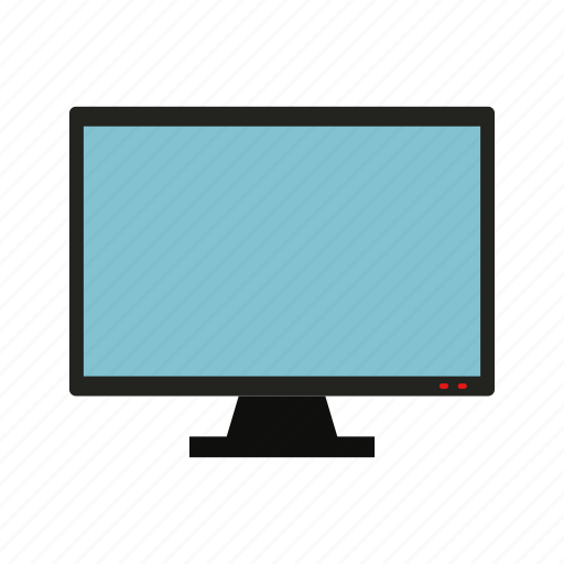 computer, device, display, monitor, screen, television, tv icon