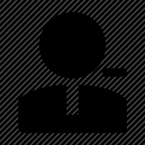decrease, employee, lack, minus, person, resign icon