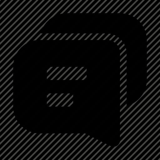 business, communication, forum, message, team, text, work icon