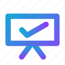 accept, added, checklist, presentation, blue
