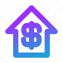 blue, gift, home, money, salary icon