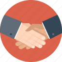 agreement, business, hand, handshake, partner, partnership icon