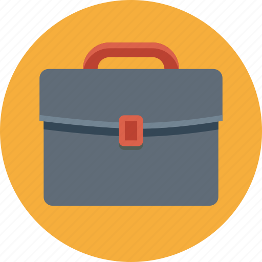 bag, briefcase, business, portfolio, round icon