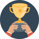achievement, bowl, business, celebrate, cup, hand, prize, success, winner icon