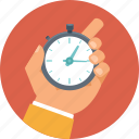 business, clock, hand, management, stopwatch, time icon