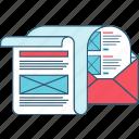 marketing, advertising, media, network, e-mail, newsletter, social icon