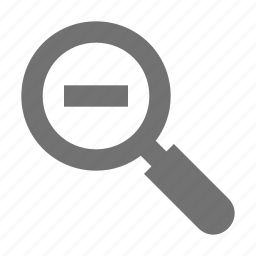 minus sign, search, zoom out, zooming, zooming magnifying glass icon