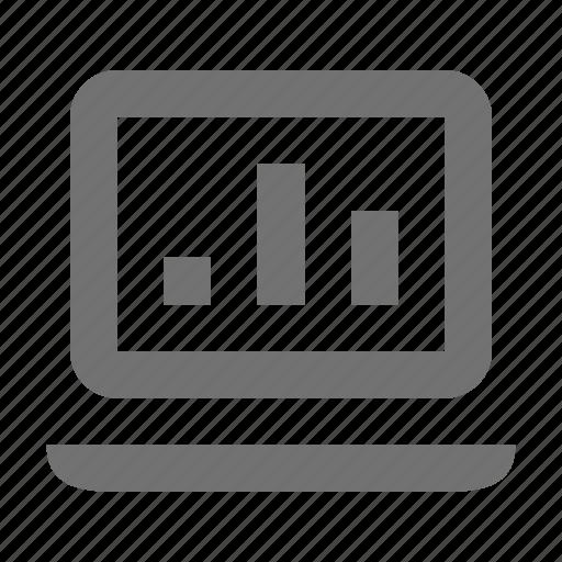 diagram screen, graph, graph screen, laptop screen, online graph icon