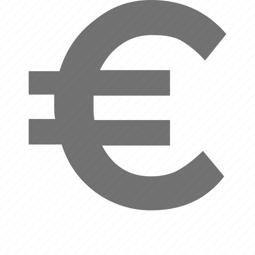 cash, currency, currency symbol, euro symbol, money icon