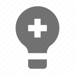 add bulb, bright, electric, light, light bulb icon