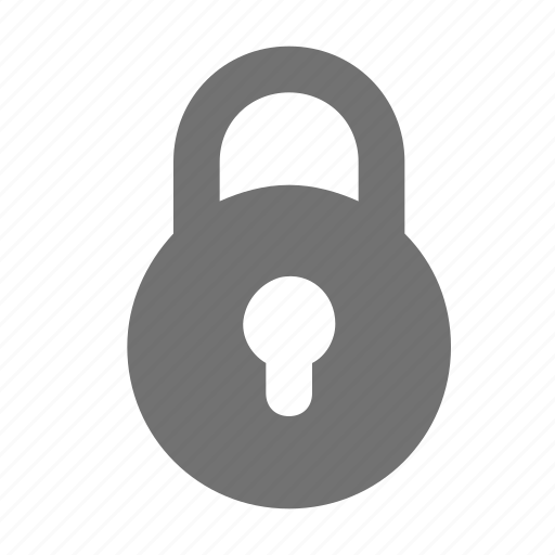 closed, lock, padlock, private, secured icon