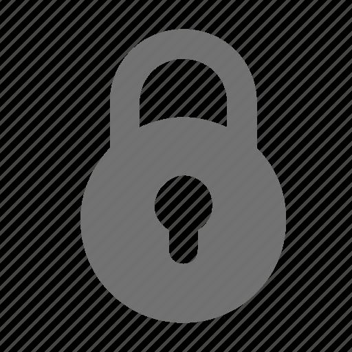 closed, lock, padlock, private, secured icon