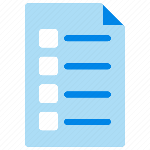 business, checklist, document, office, paper icon