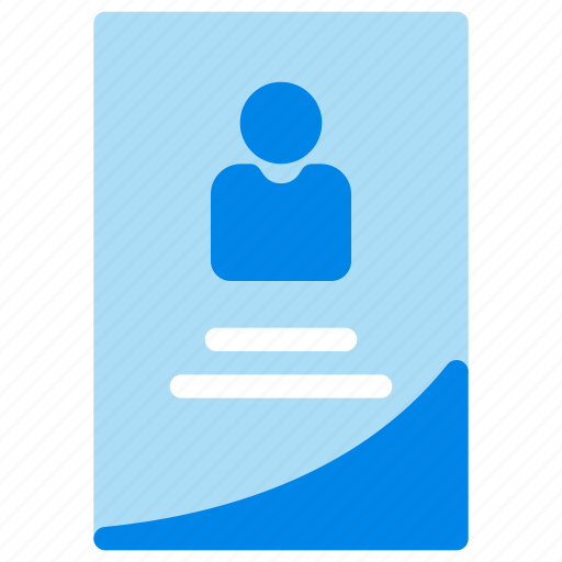 business, card, employee, id icon