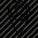 location, man, map icon