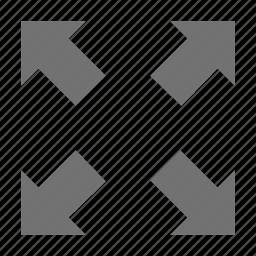 expand arrows, expand screen, four arrows, full size screen, fullscreen icon