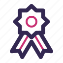 award, prize, quality, reward, ribbon icon