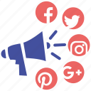 marketing, media, online, social, social market, web page icon