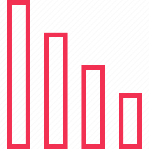 bars, data, low, results icon