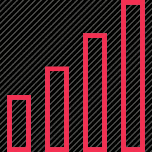 bars, data, revenue icon