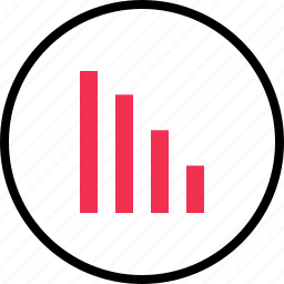 bars, graph, report icon