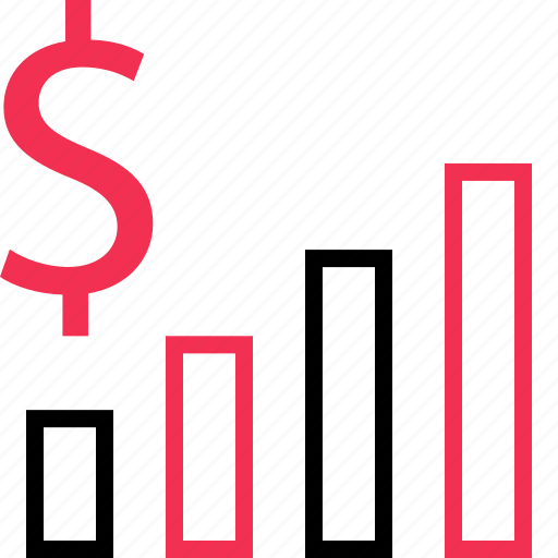 dollar, online, sales, sign icon