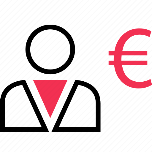 euro, profile, sign, user icon