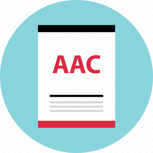 aac, file, page, type icon
