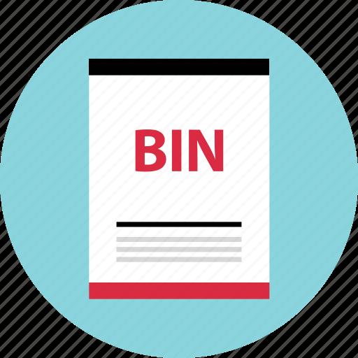 bin, file, page icon