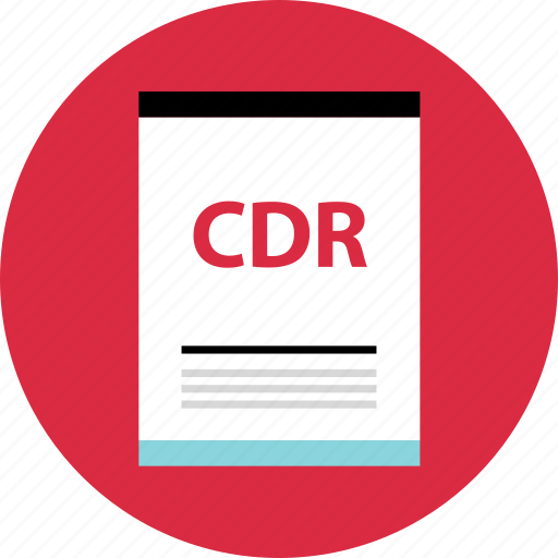cdr, file, page icon