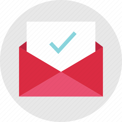 approved, check, email, envelope, mail, mark, ok icon
