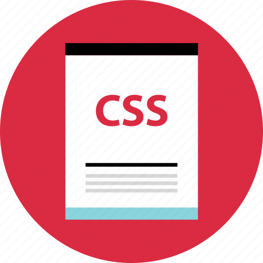css, file, page icon