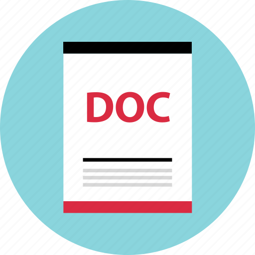 doc, file, name icon