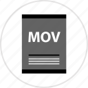 doc, document, mov, page, type icon